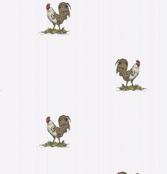 Rooster Wallpaper French Country
