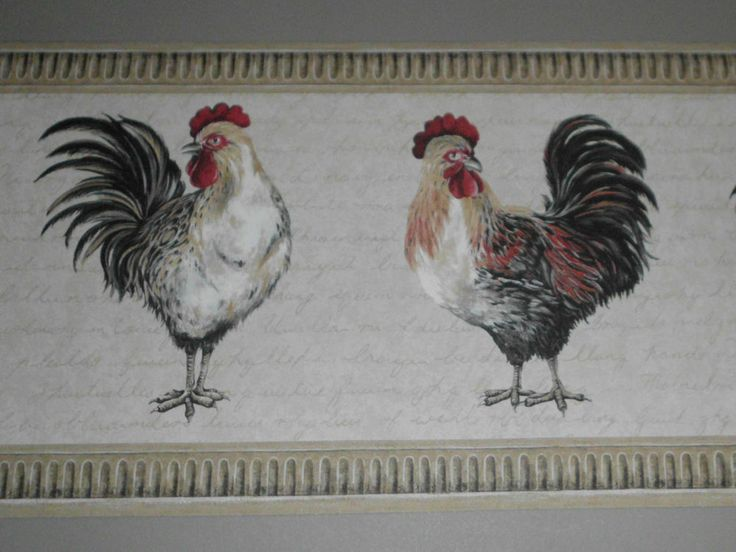 Rooster Wallpaper Kitchen