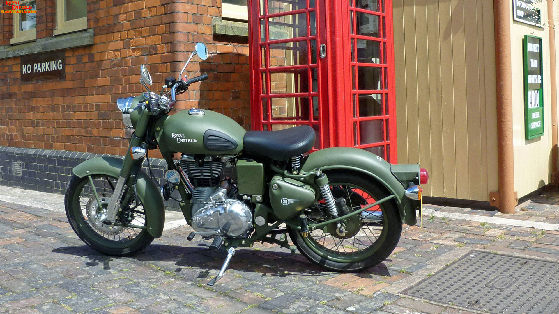 Royal Enfield Battle Green Wallpaper