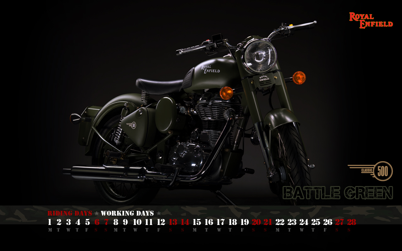 Royal Enfield Classic 350 Black HD Wallpaper