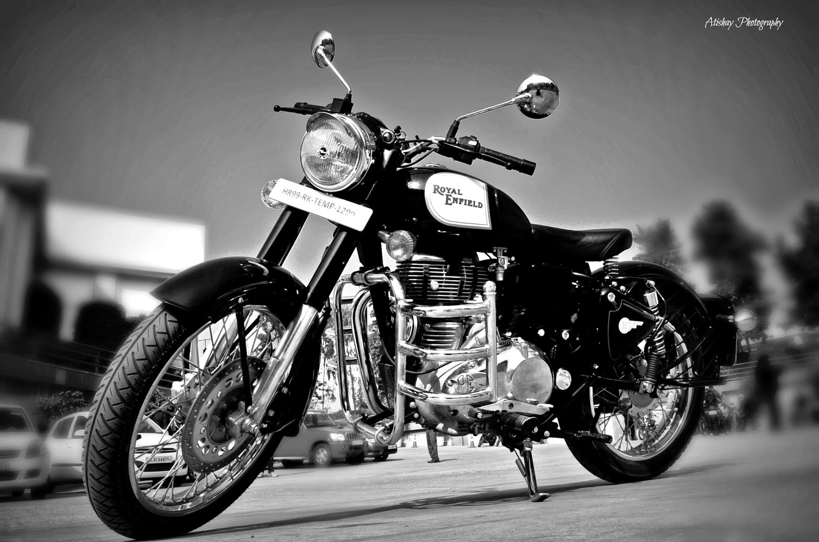 Hd wallpaper royal enfield -  Royal Enfield Classic 350 Black Wallpaper