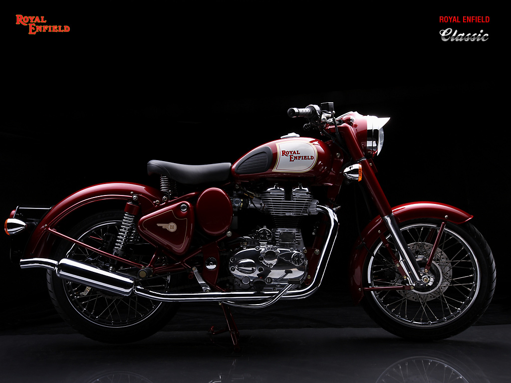 Royal Enfield Classic 350 Black Wallpaper