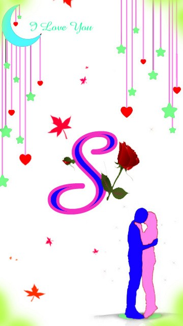 S S Letter In Love Wallpapers Download S Lett...