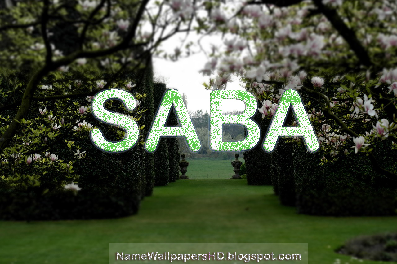 Saba Name Wallpaper Download