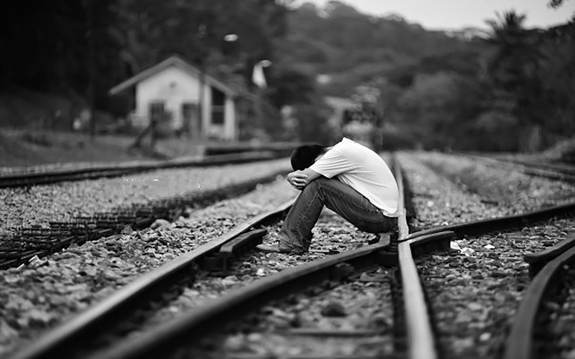 Sad Boy Full HD Wallpaper