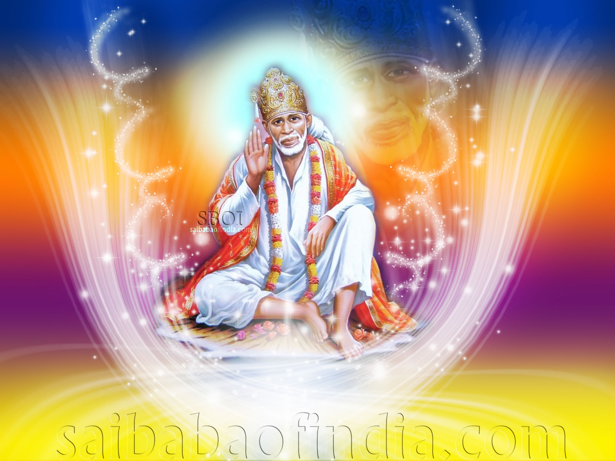 Sai Baba Animated Wallpaper For Desktop