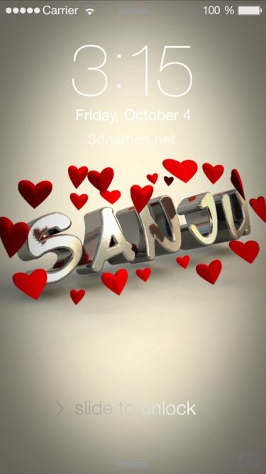 Sanju Name Wallpaper