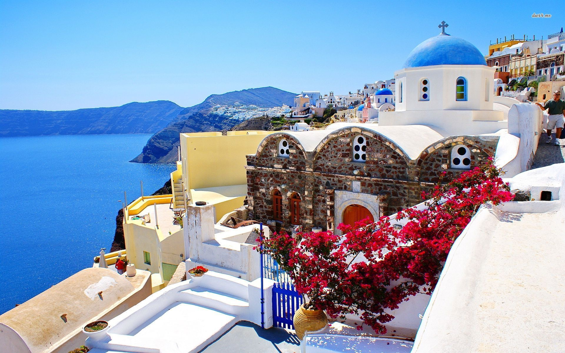 Santorini Greece Wallpaper
