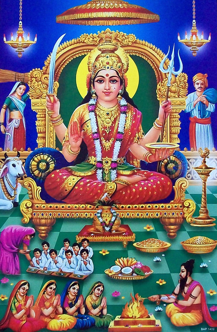 download santoshi mata wallpaper free download gallery