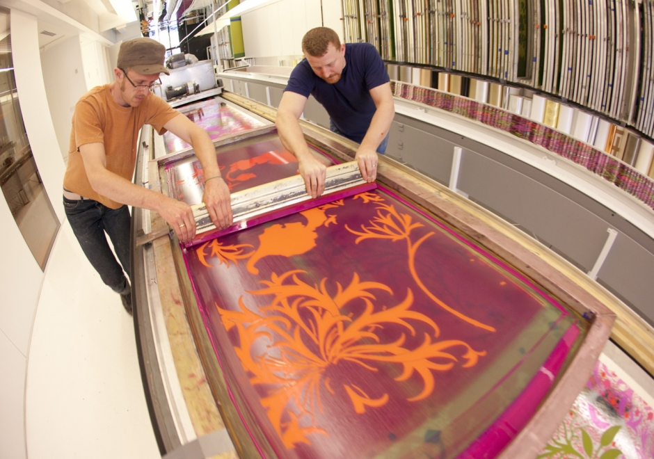 Screen Printing Wallpaper