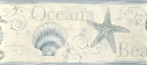 Seashore Wallpaper Border