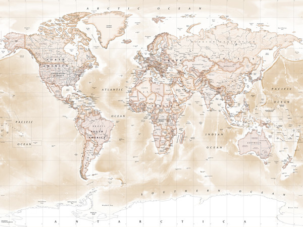 Download Sepia World Map Wallpaper Gallery