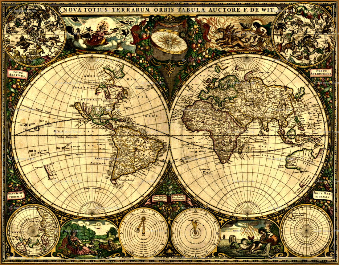 Sepia World Map Wallpaper Timekeeperwatches - Large sepia world map