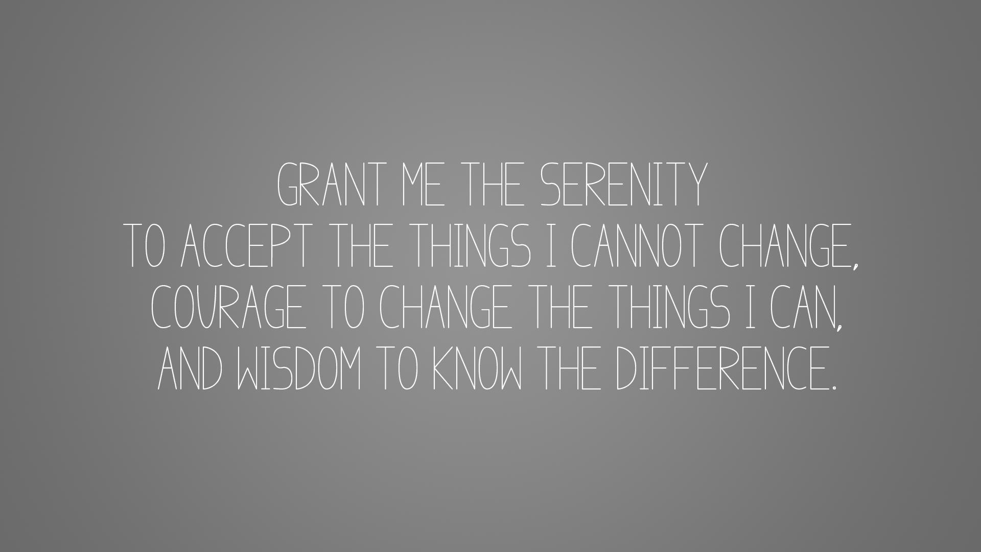 Serenity Prayer Wallpaper Free