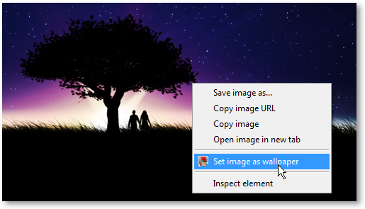 Set Image As Wallpaper Chrome Extension
