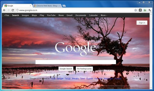 Set Wallpaper Google Chrome