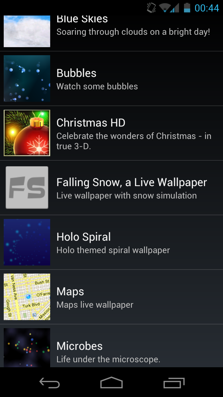 Setting Wallpaper Android