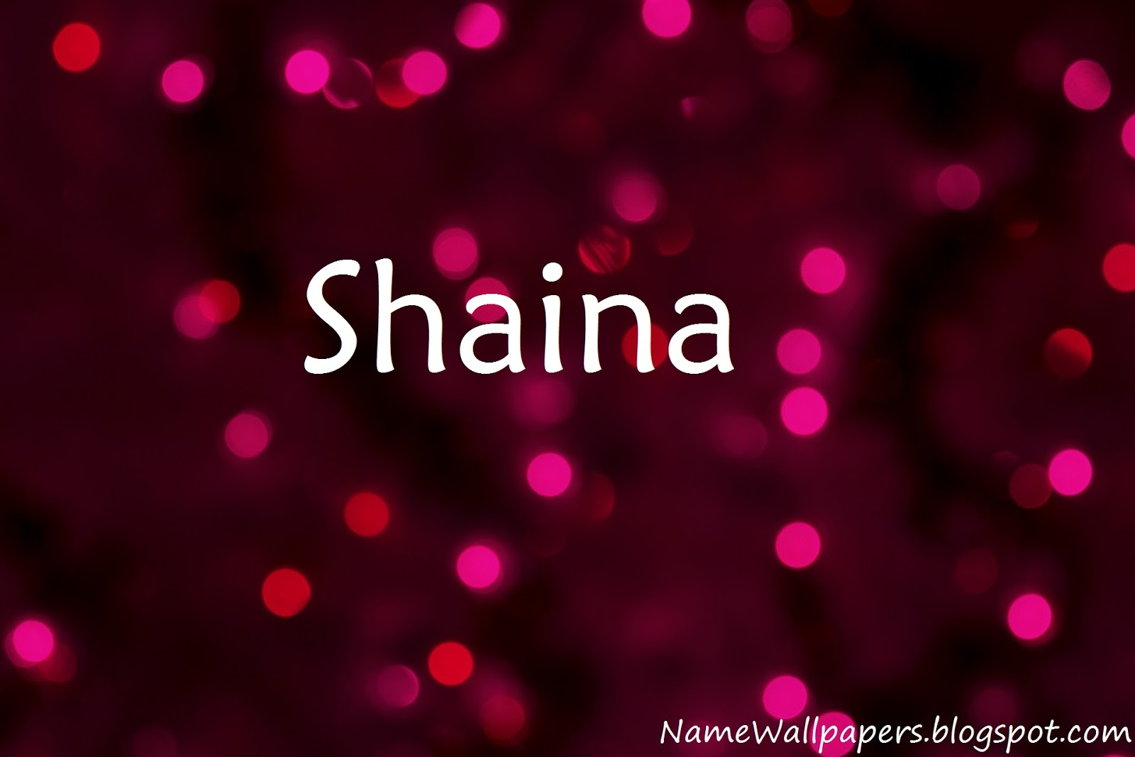 Shaina Name Wallpaper