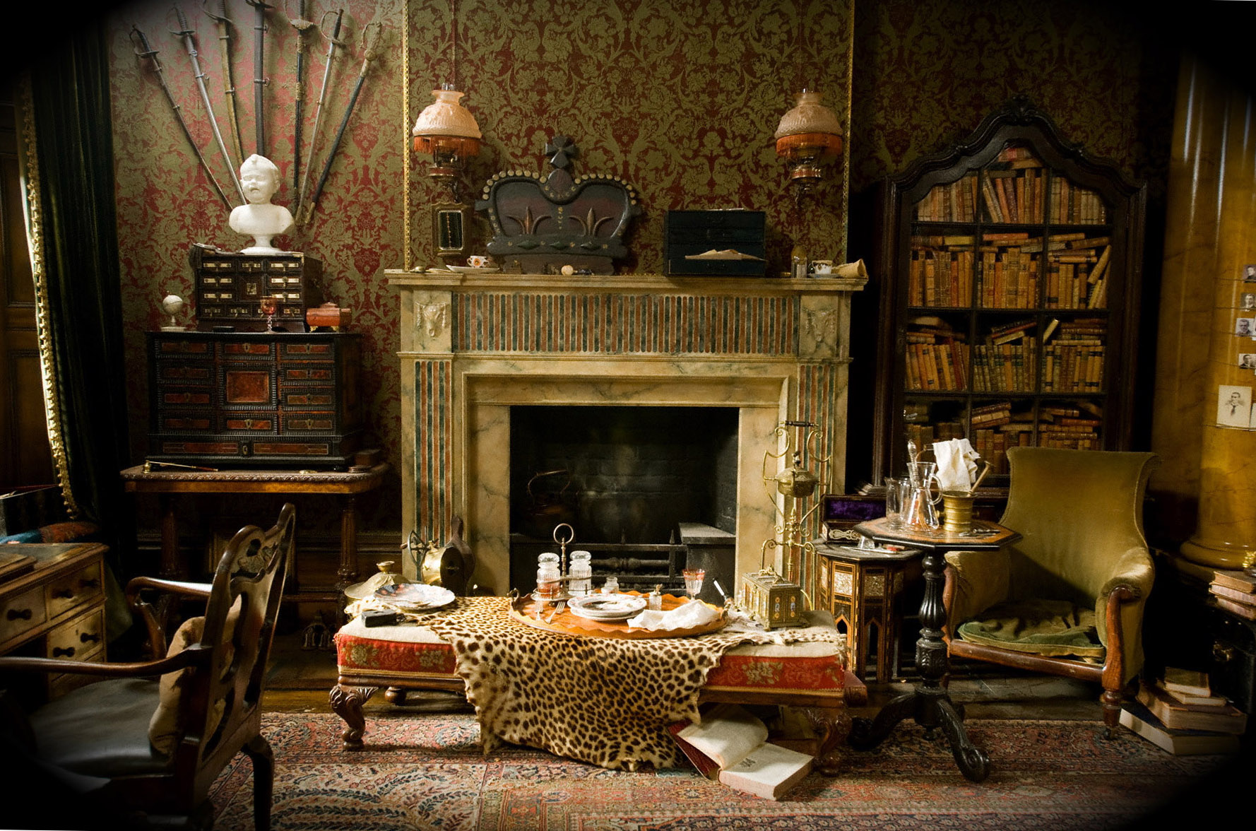 sherlock holmes living room sherlock living room wallpaper gallery 16918