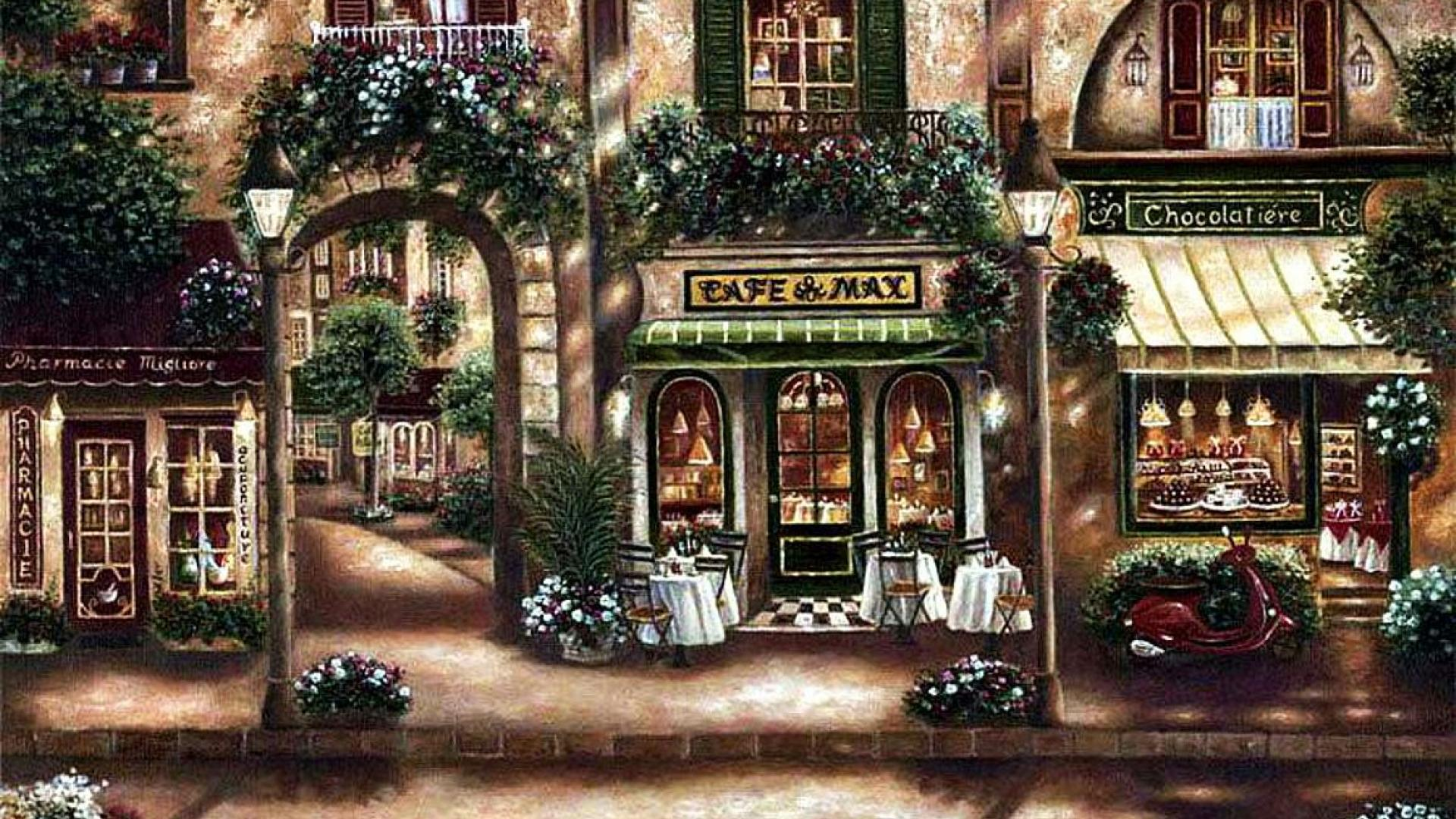 Shops Wallpaper
