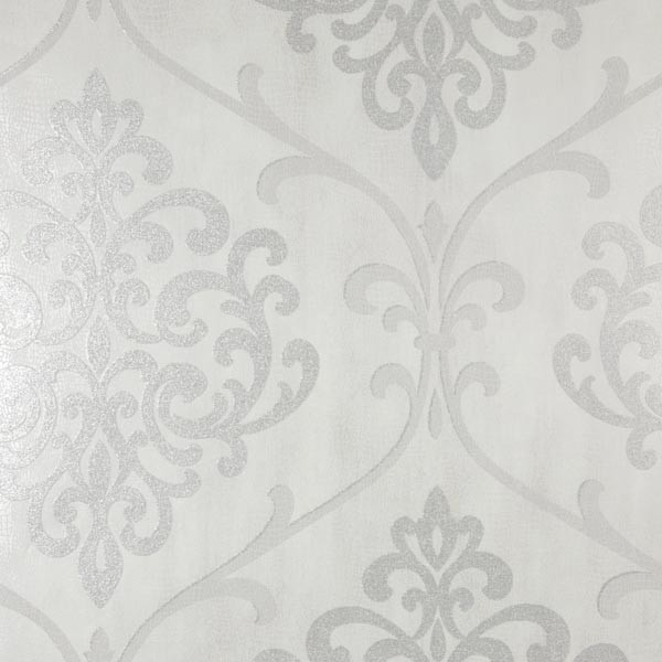 Silver Contemporary Wallpaper
