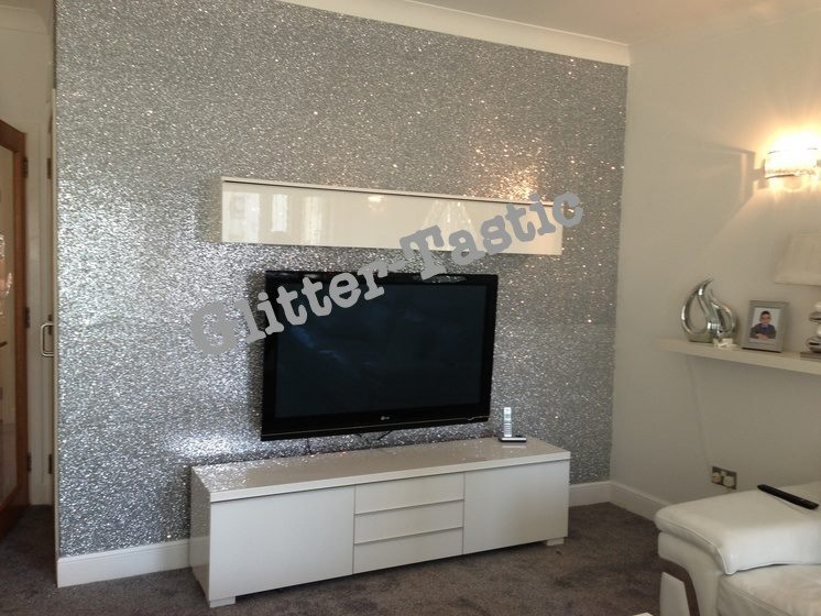 Silver Glitter Wallpaper For Walls