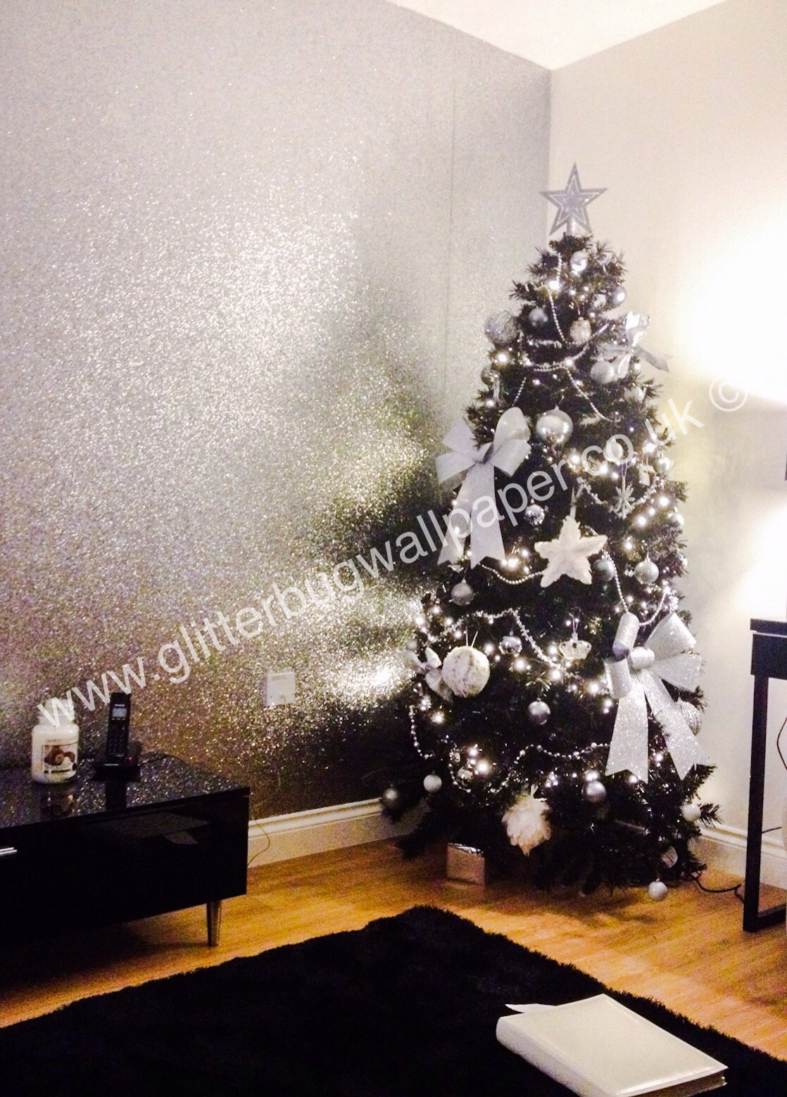 Download Silver Glitter Wallpaper For Walls Gallery