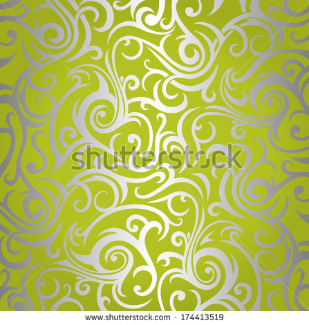 Silver Green Wallpaper
