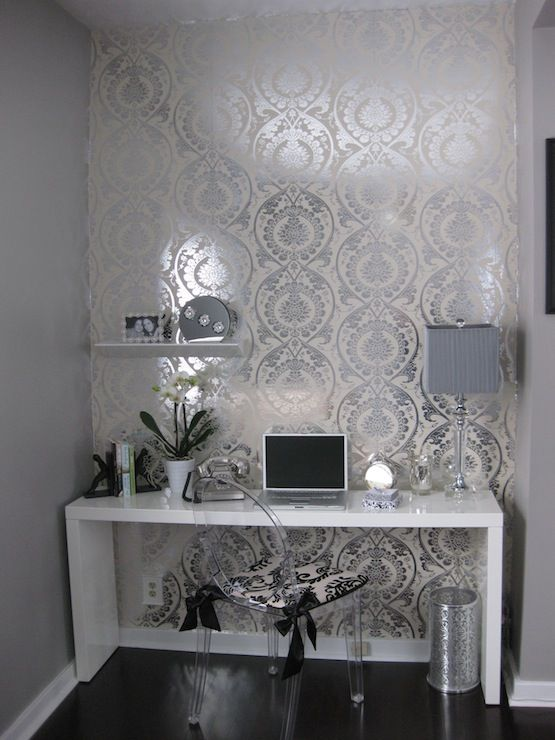 Silver Mirror Wallpaper