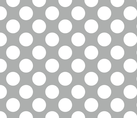 Silver Polka Dot Wallpaper