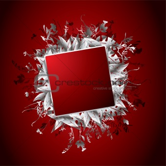 Silver Red Wallpaper