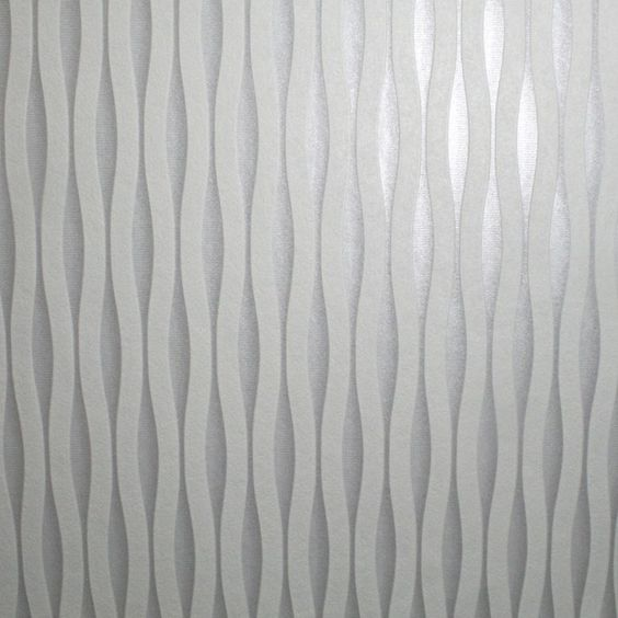 Silver Striped Wallpaper