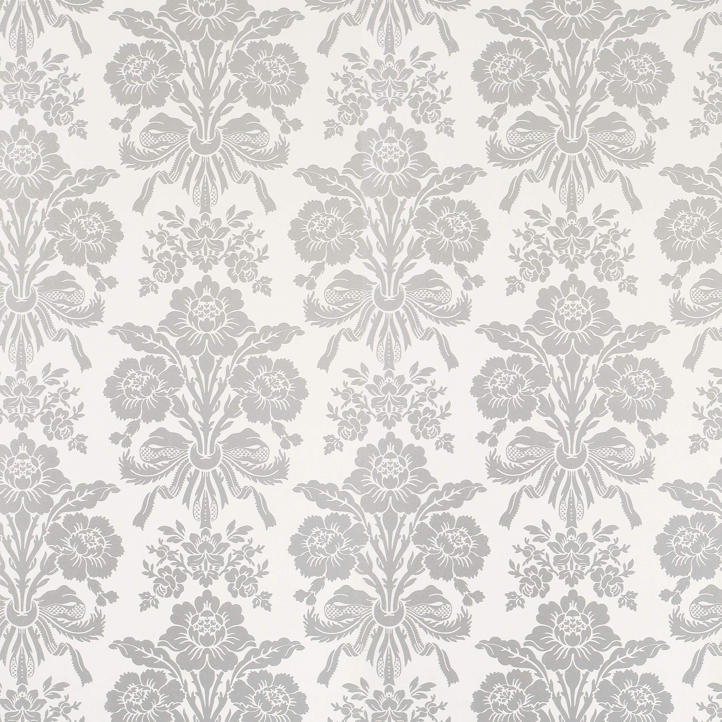 Download Silver White Damask Wallpaper Gallery