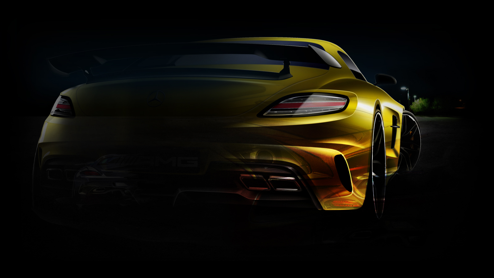 Sls Amg Black Series Wallpaper
