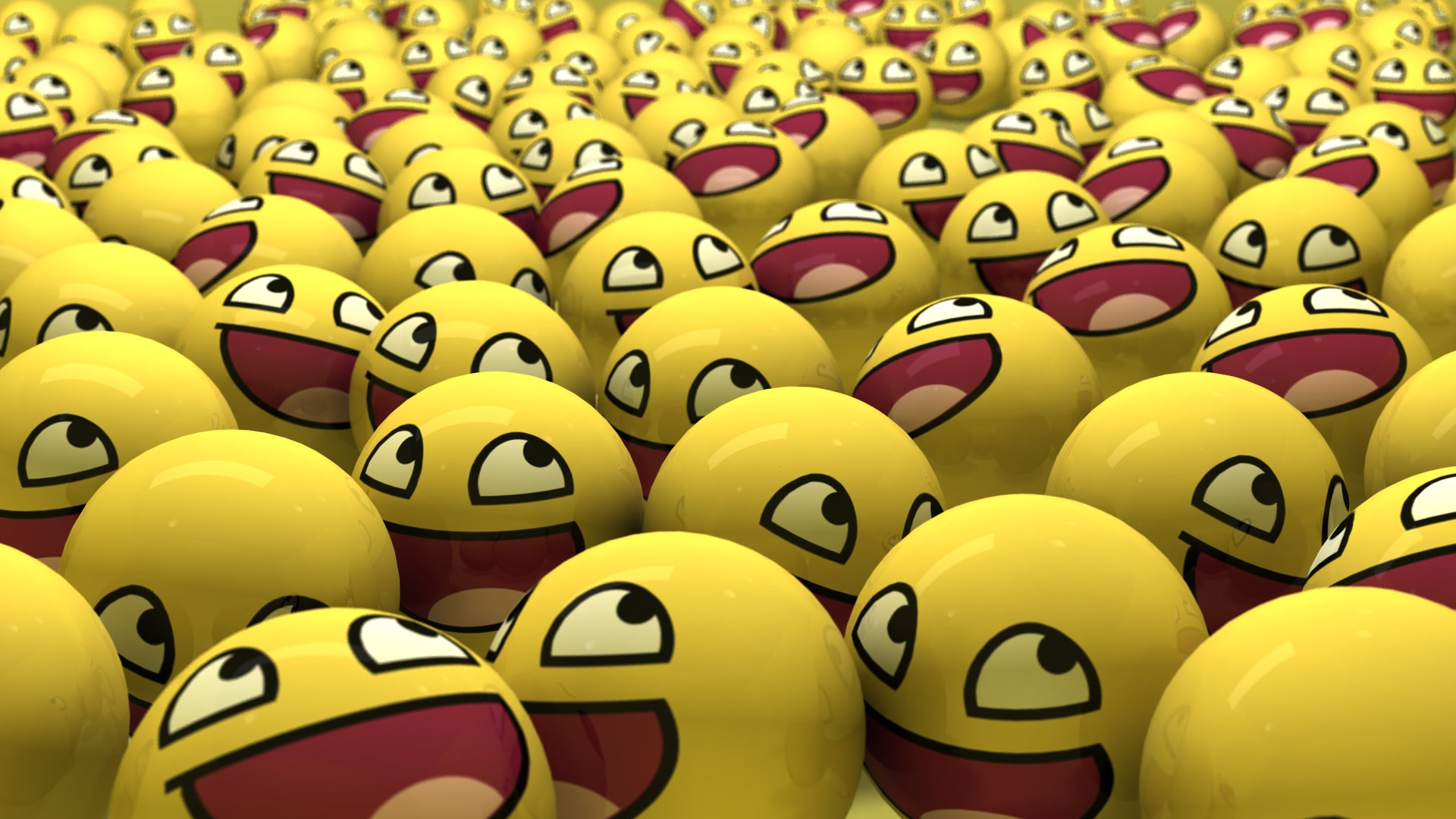 Smiley Faces Wallpaper