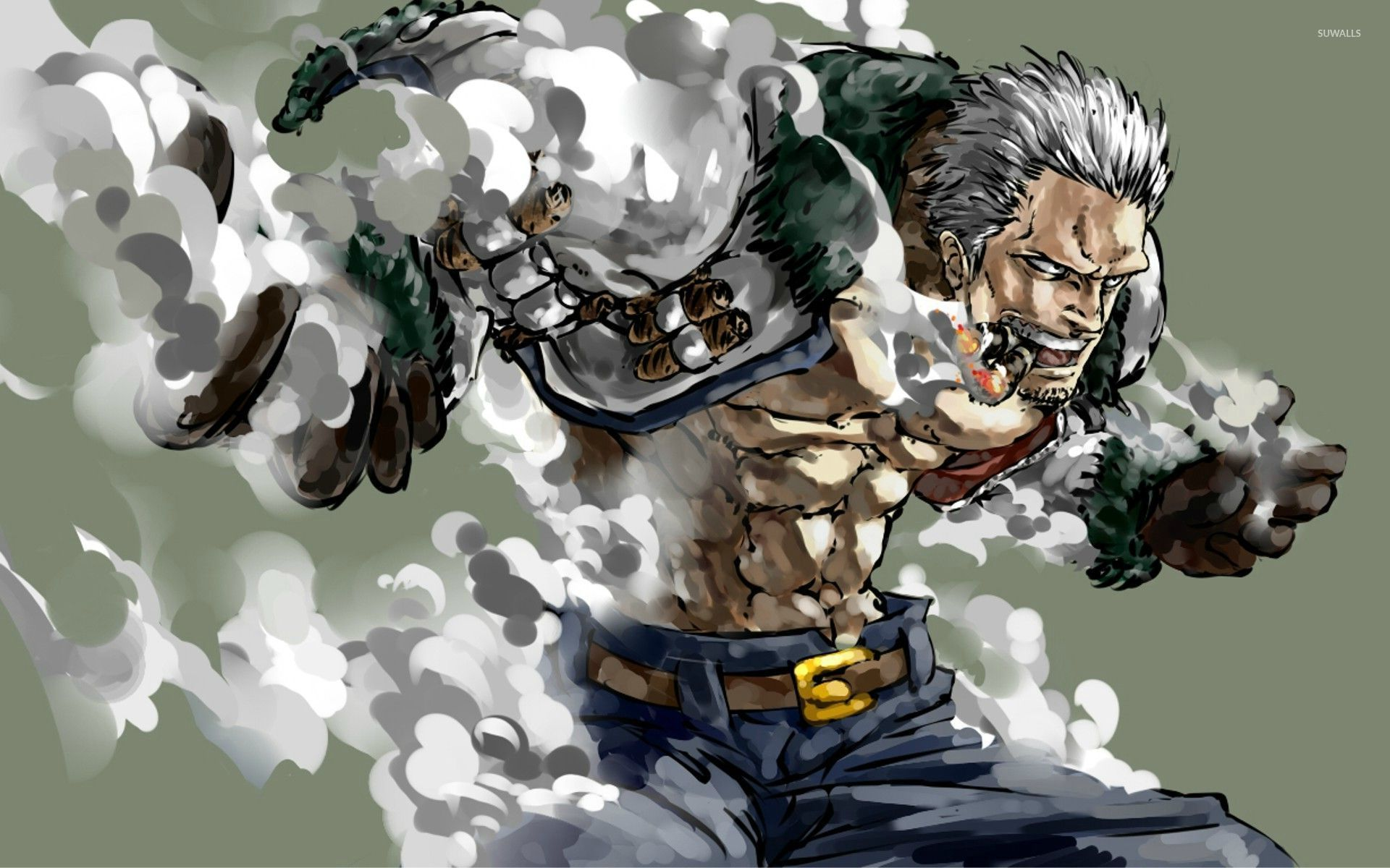 Smoker One Piece Wallpaper