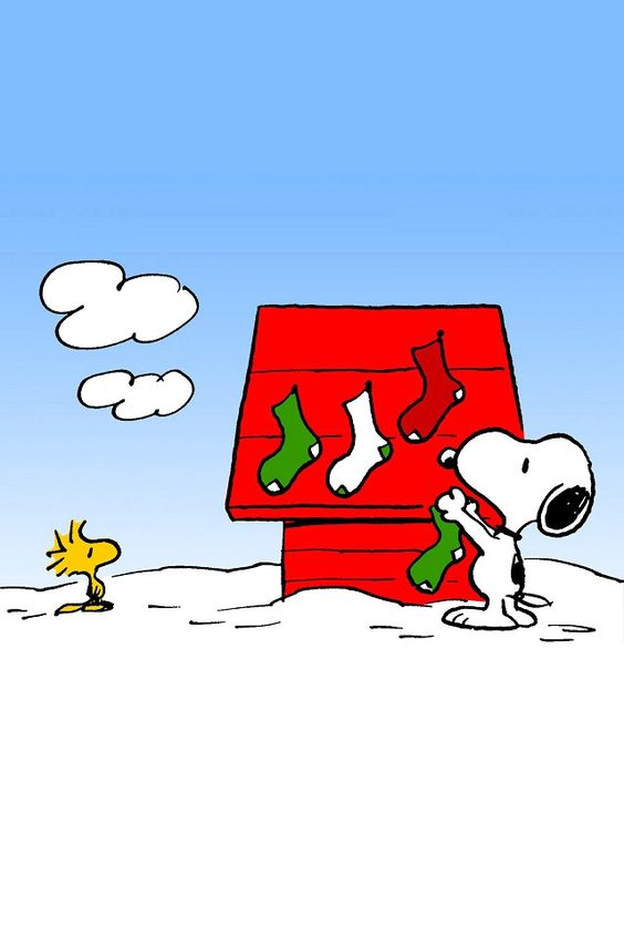Snoopy And Woodstock Christmas Wallpaper