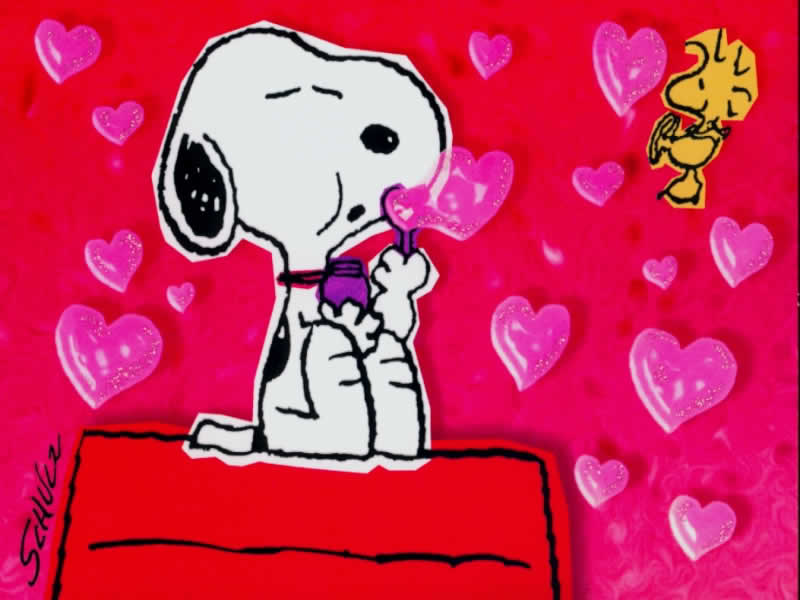 Snoopy Valentines Day Wallpaper