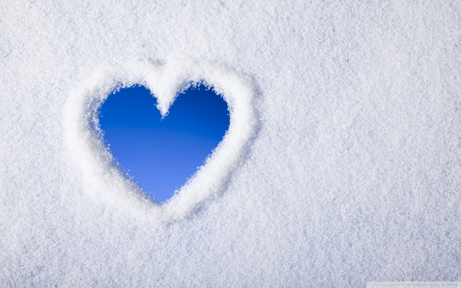 Snow Love Wallpaper