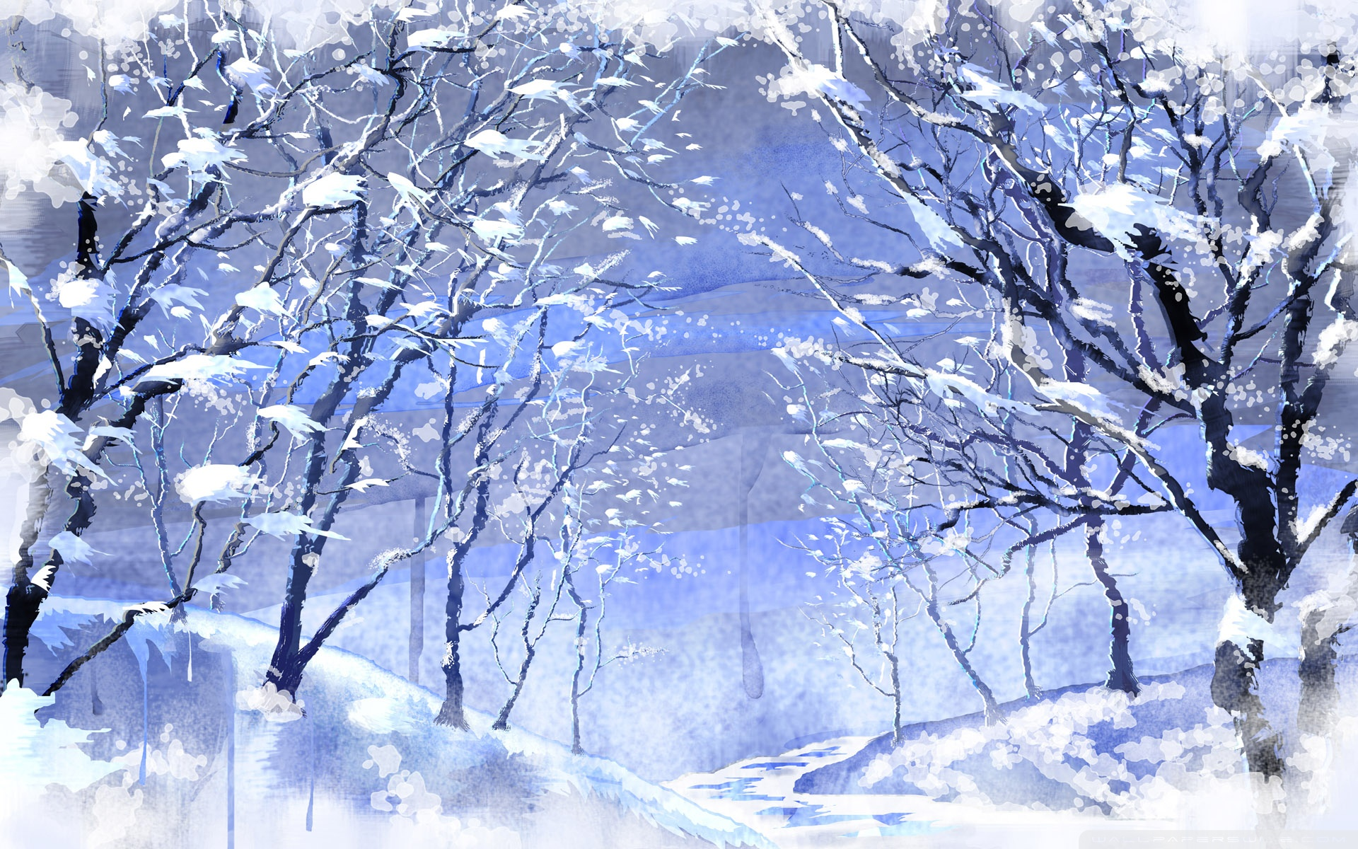 Snow Trees Wallpaper