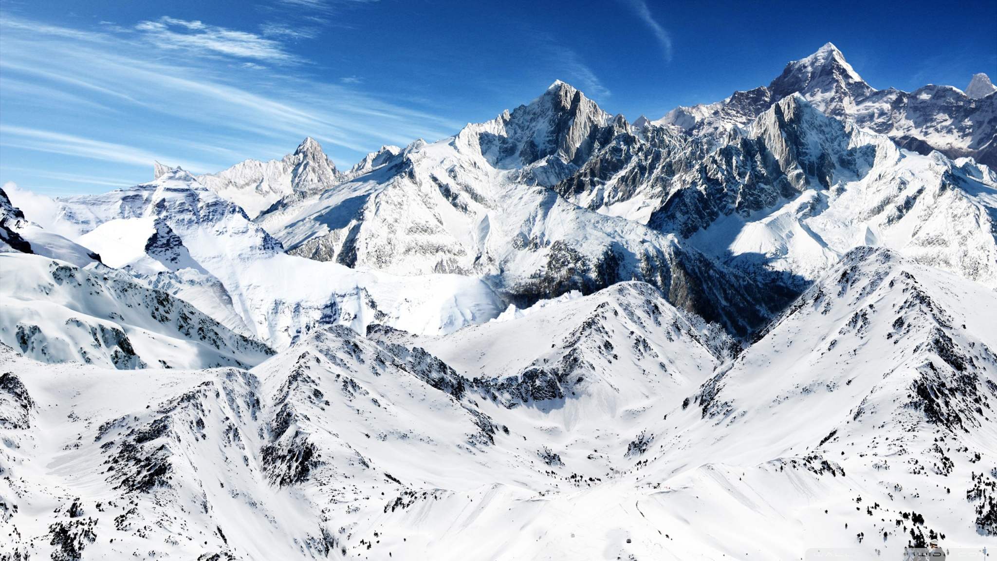 Snowy Mountain Wallpaper