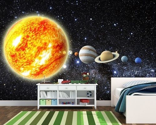 Solar System Wallpaper Kids Room