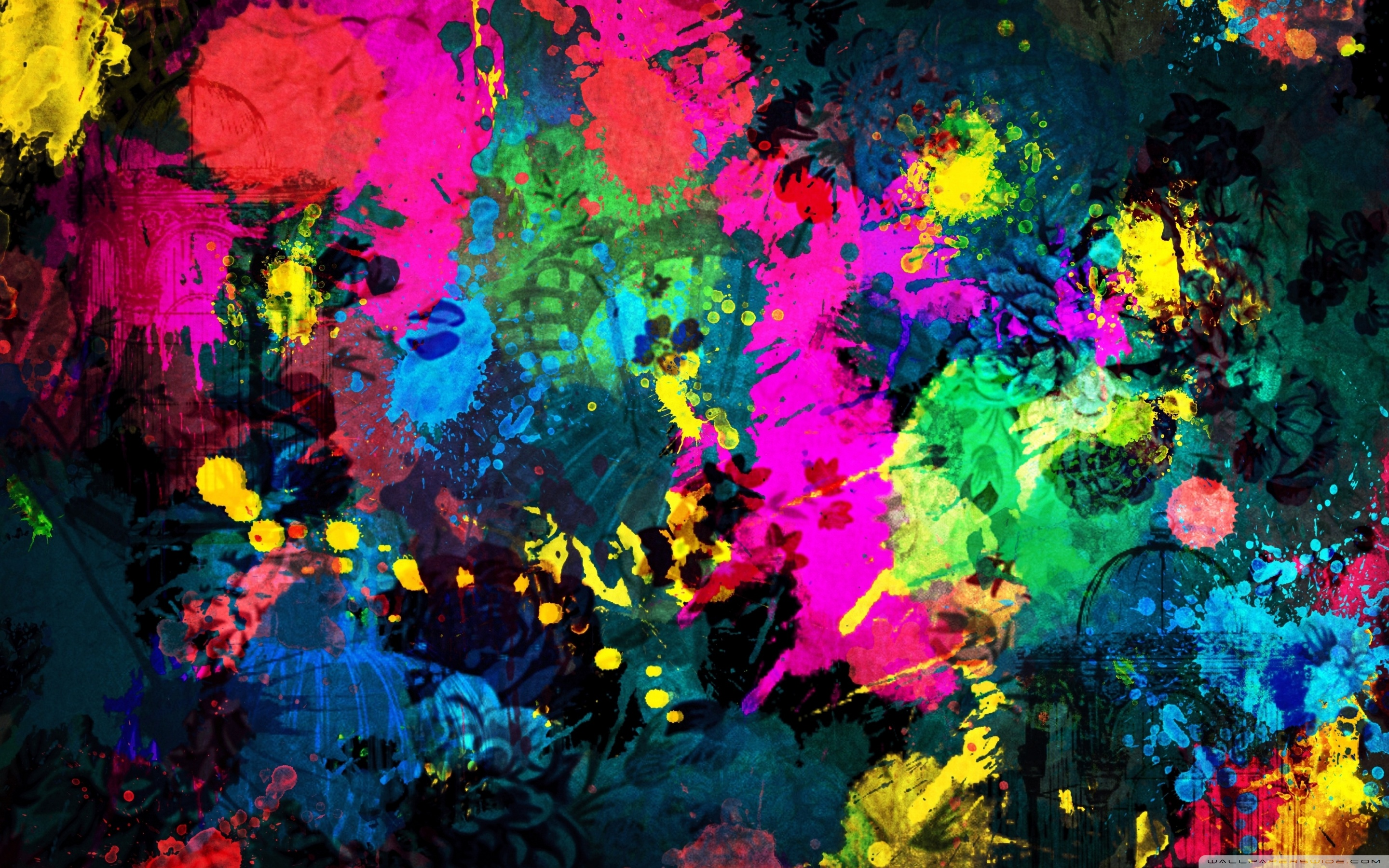 Splatter Paint Wallpaper