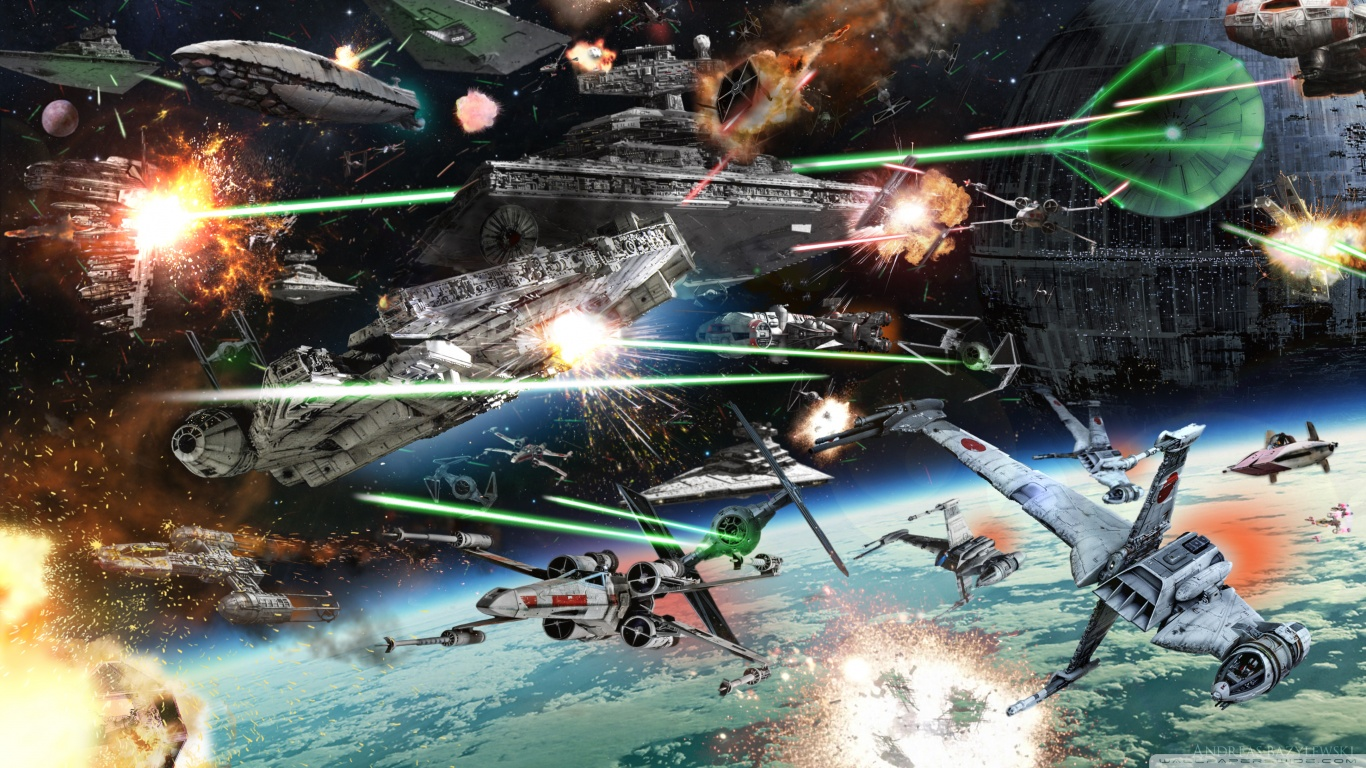 Star Wars Space Battle Wallpaper
