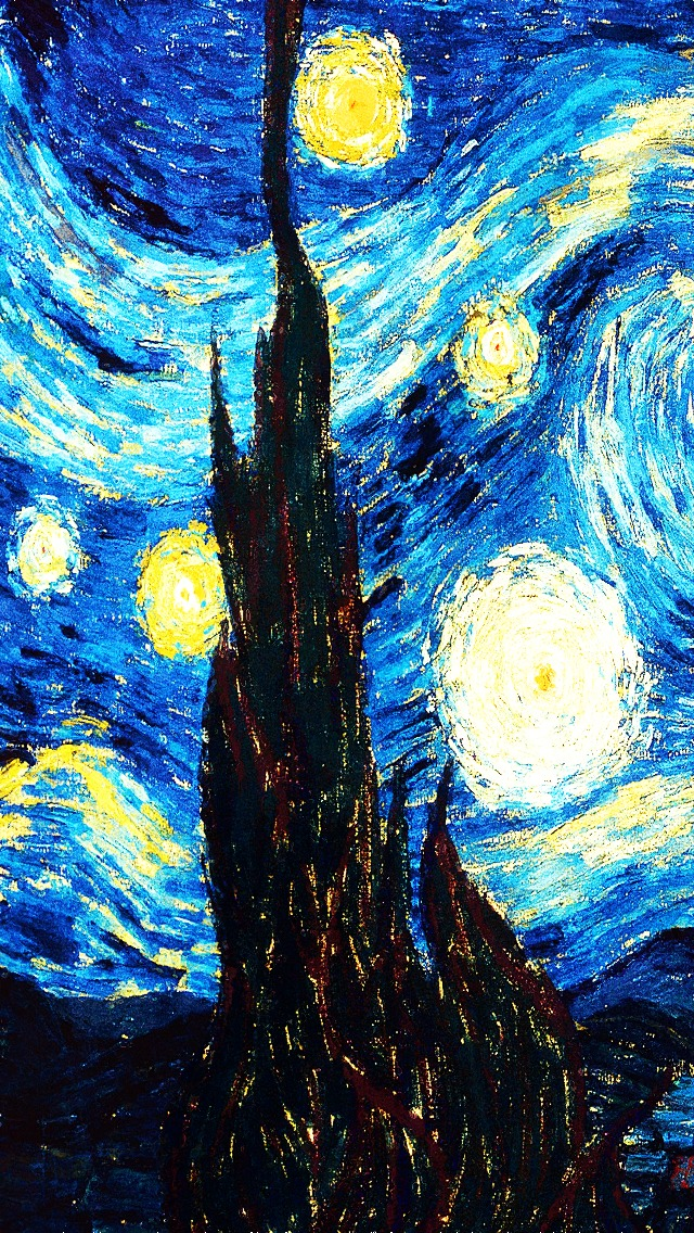 Starry Night Iphone 5 Wallpaper