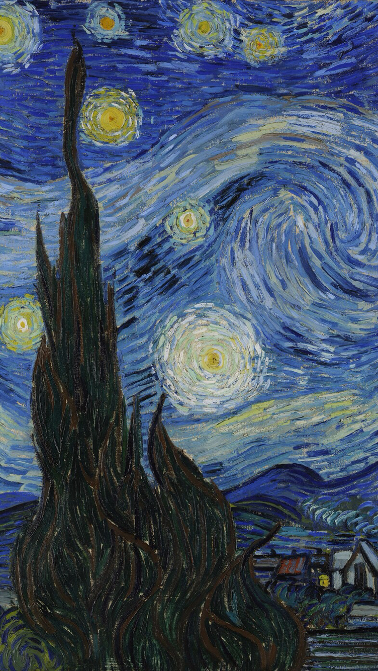 Download Starry Night Painting Wallpaper Gallery