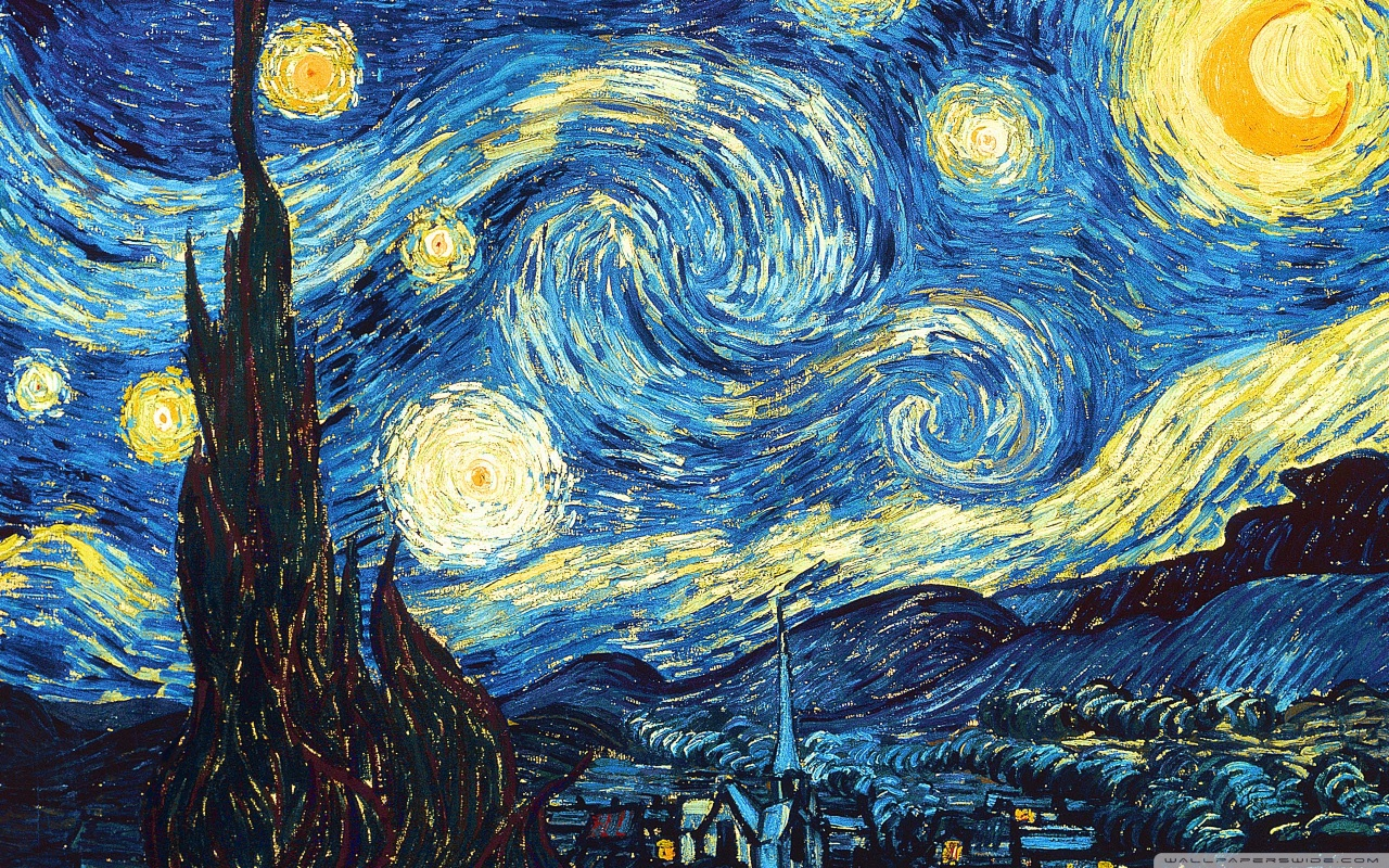 Starry Night Painting Wallpaper