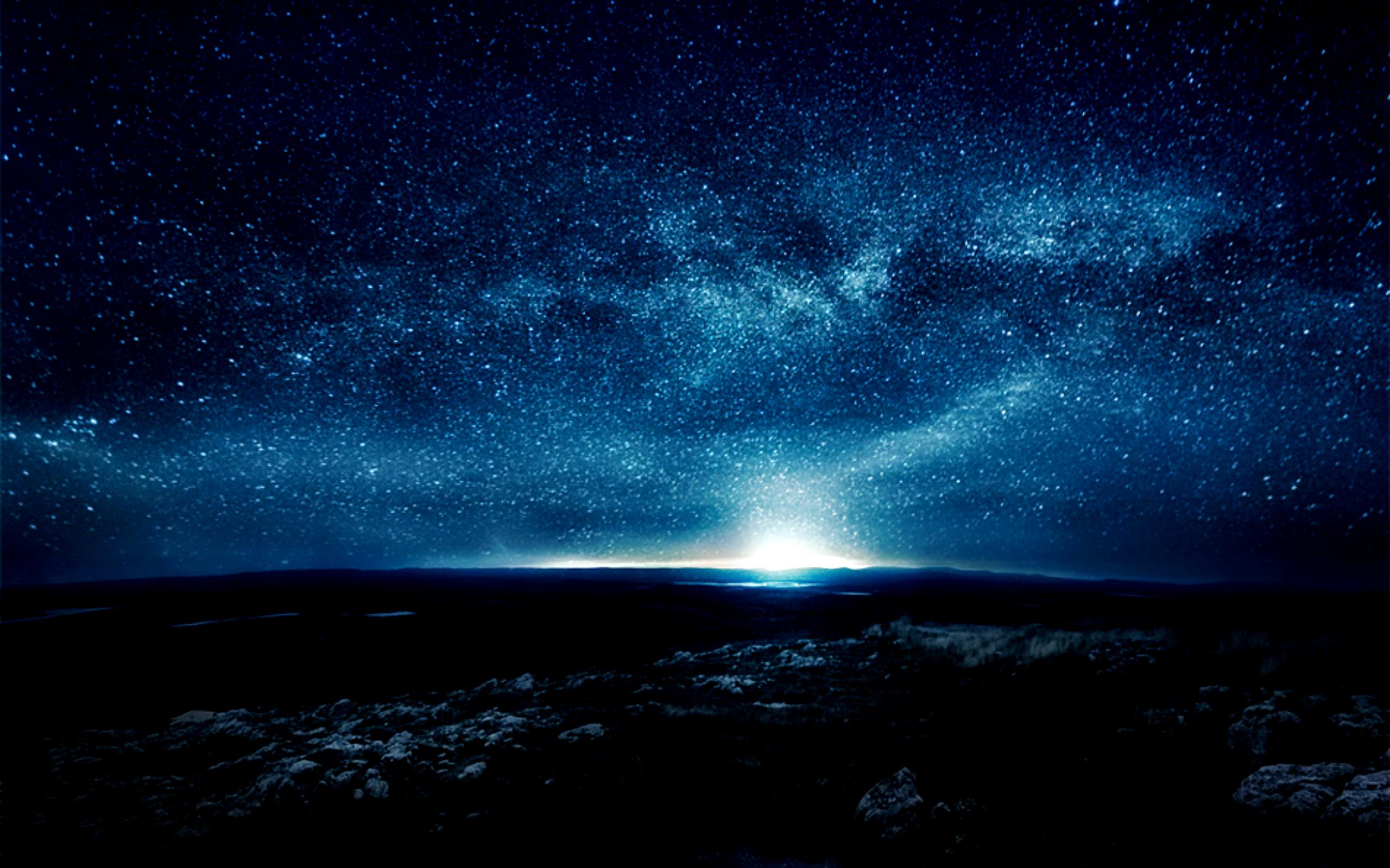 Starry Night Sky HD Wallpaper