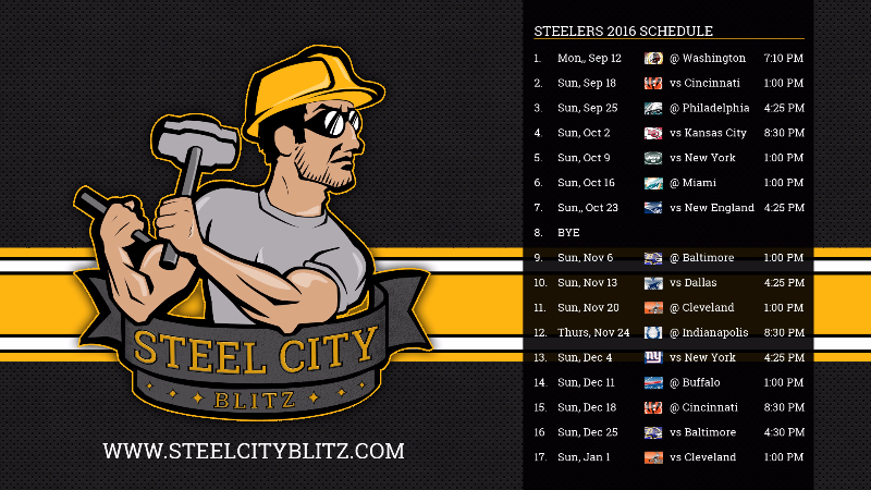 Steelers Wallpaper Schedule