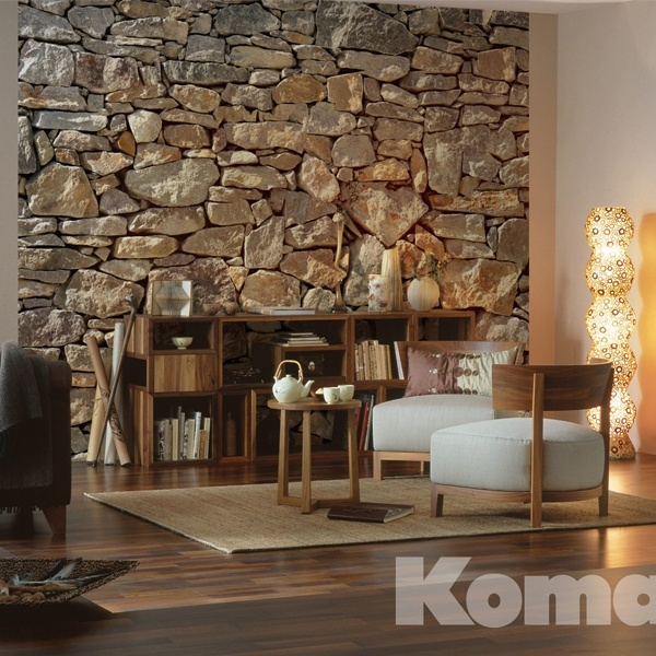 Stone Wallpaper Living Room